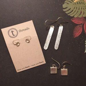 Silver earring bundle